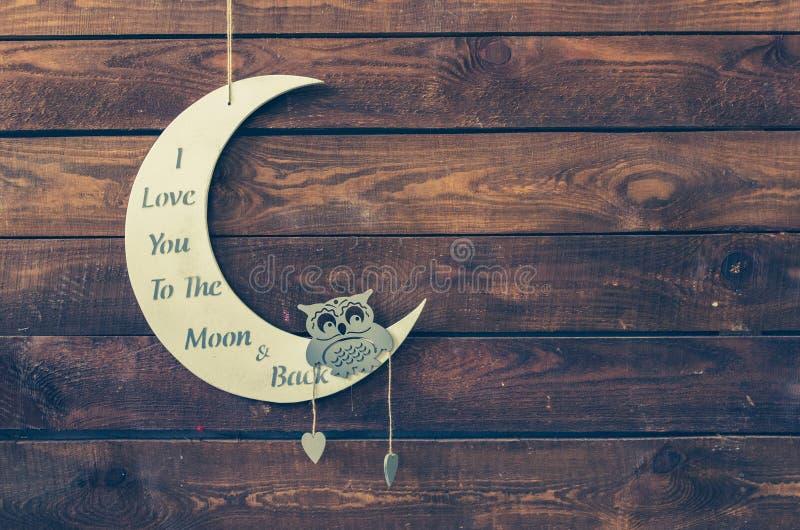 我爱你到月亮和后面 库存图片