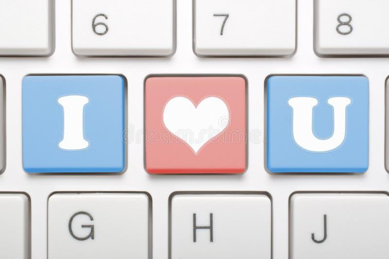 我爱你在键盘 皇族释放例证