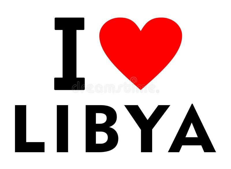 我爱利比亚 库存例证