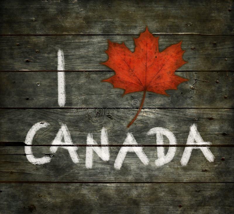我爱加拿大 免版税库存图片