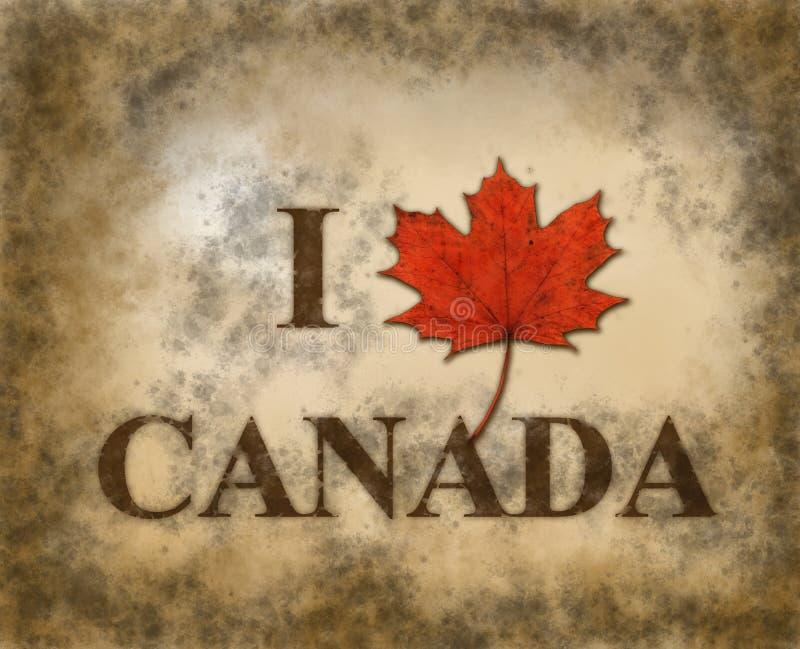 我爱加拿大 免版税库存照片