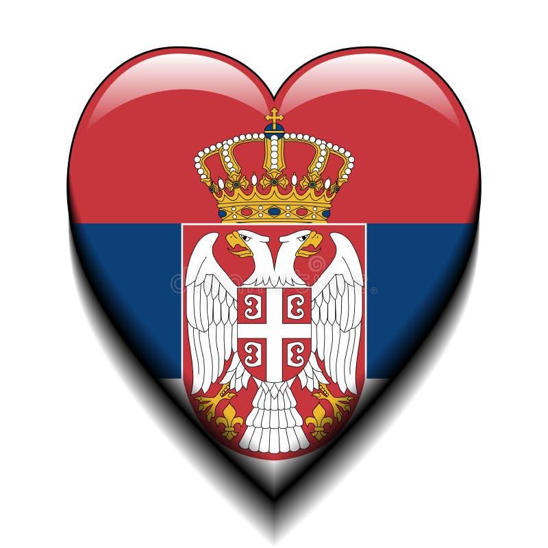 我爱塞尔维亚 库存例证