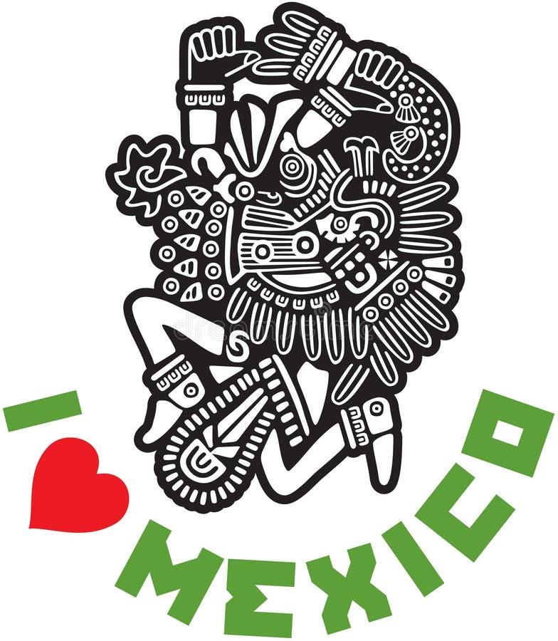 我爱墨西哥模板设计 皇族释放例证