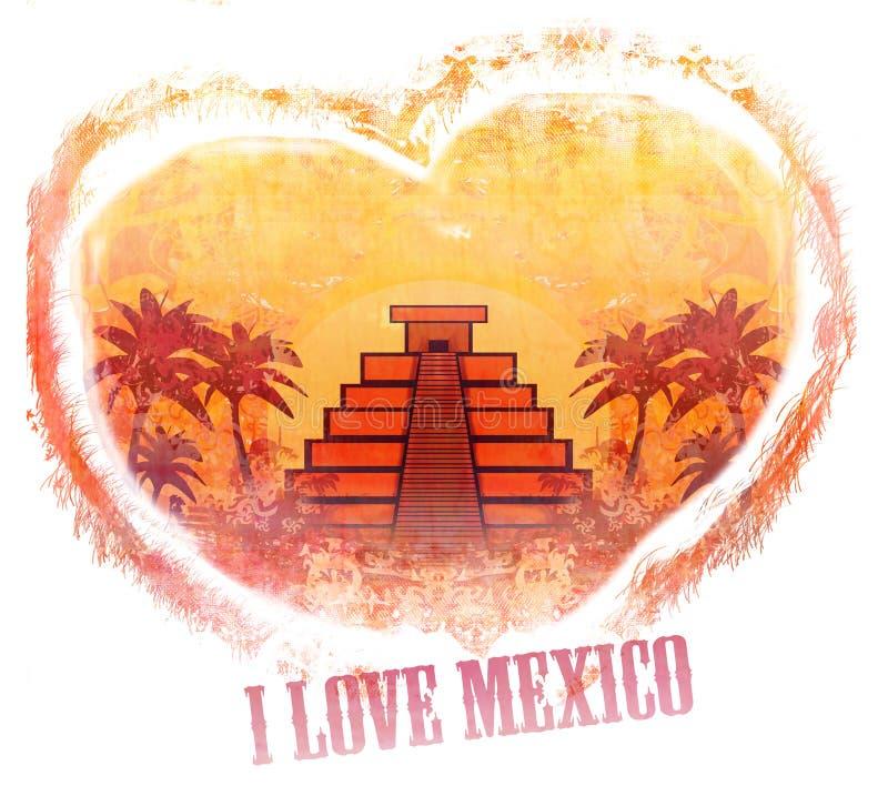 我爱墨西哥设计 向量例证