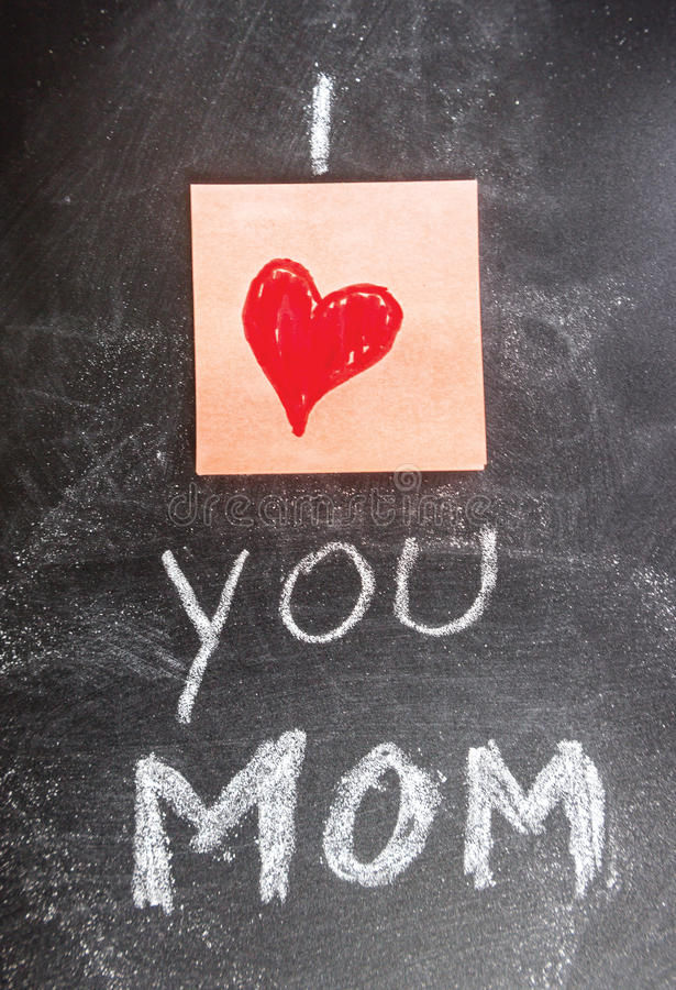 我爱妈妈您 皇族释放例证