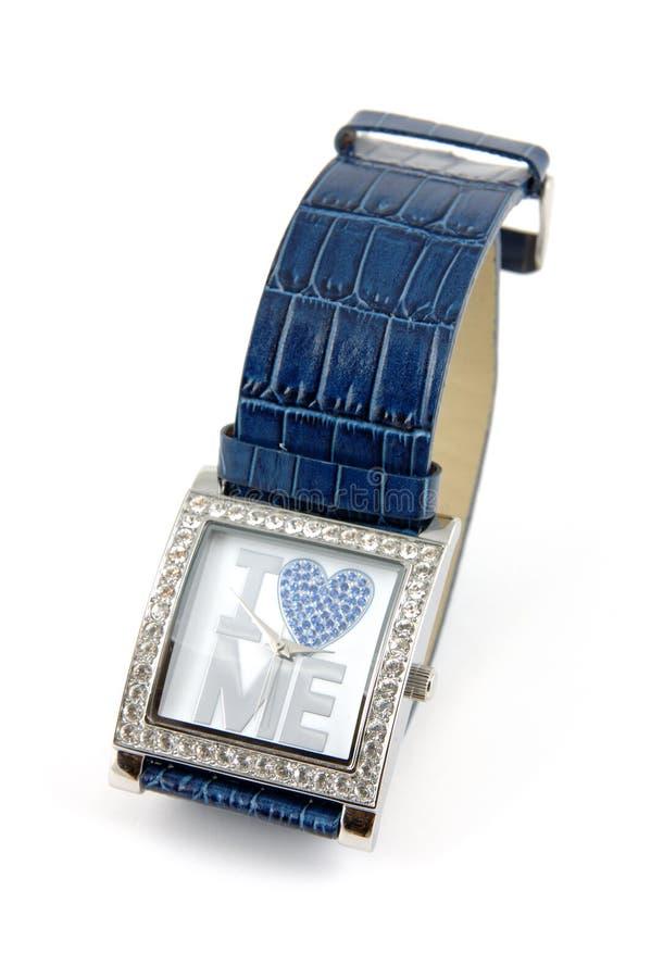 我爱我手表 库存图片