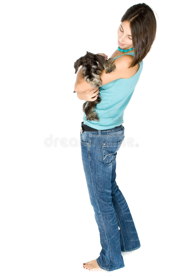 我爱我的小狗 库存图片