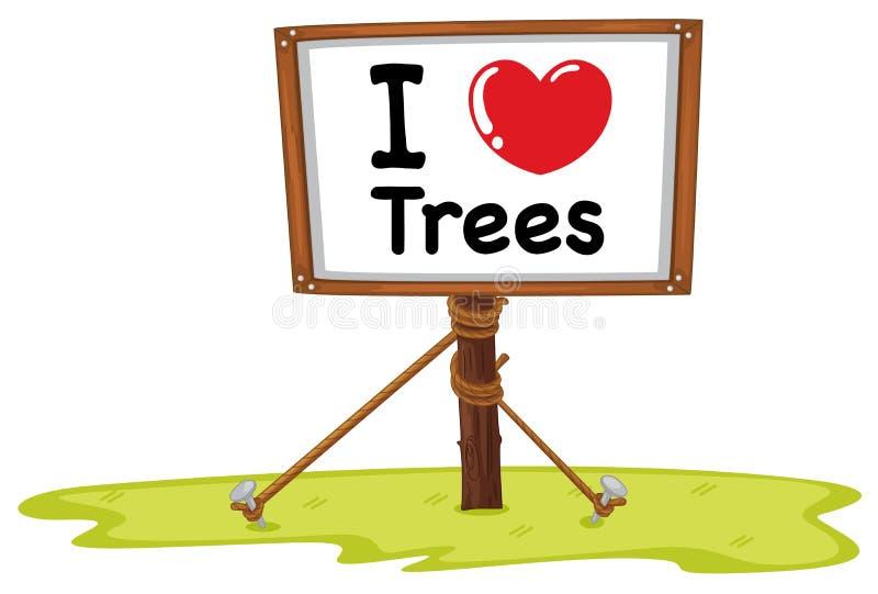 我爱护树木 库存例证