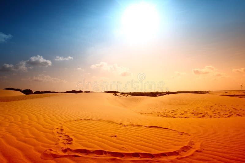 我爱沙漠 库存照片