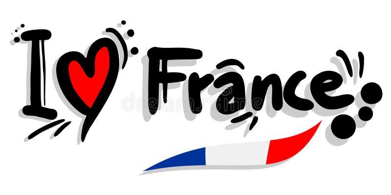 我爱法国 库存例证