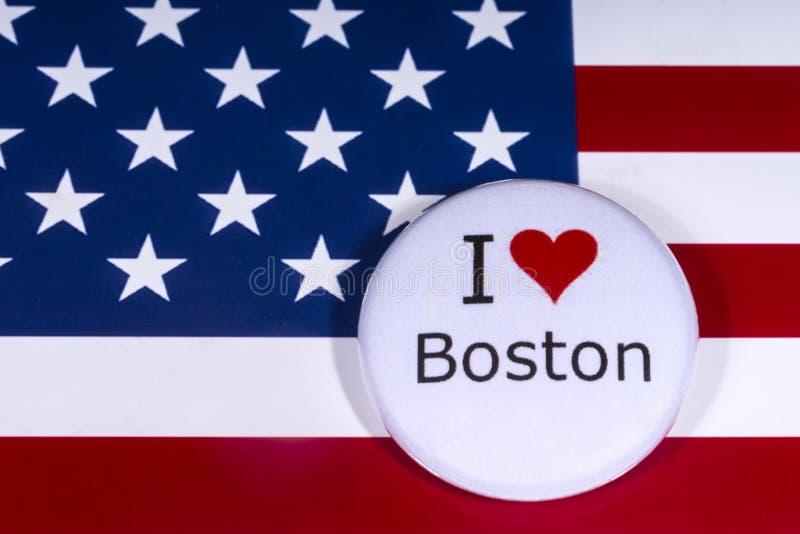 我爱波士顿 库存图片