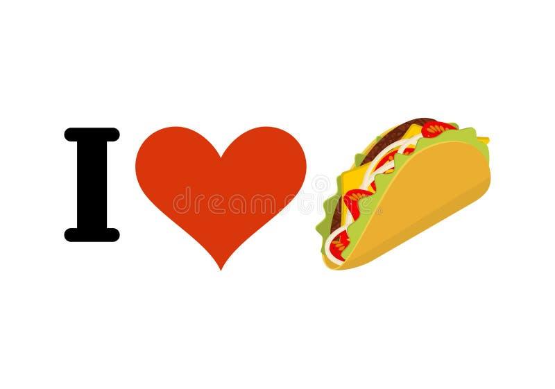 我爱炸玉米饼 心脏和传统墨西哥食物 玉米片 库存例证