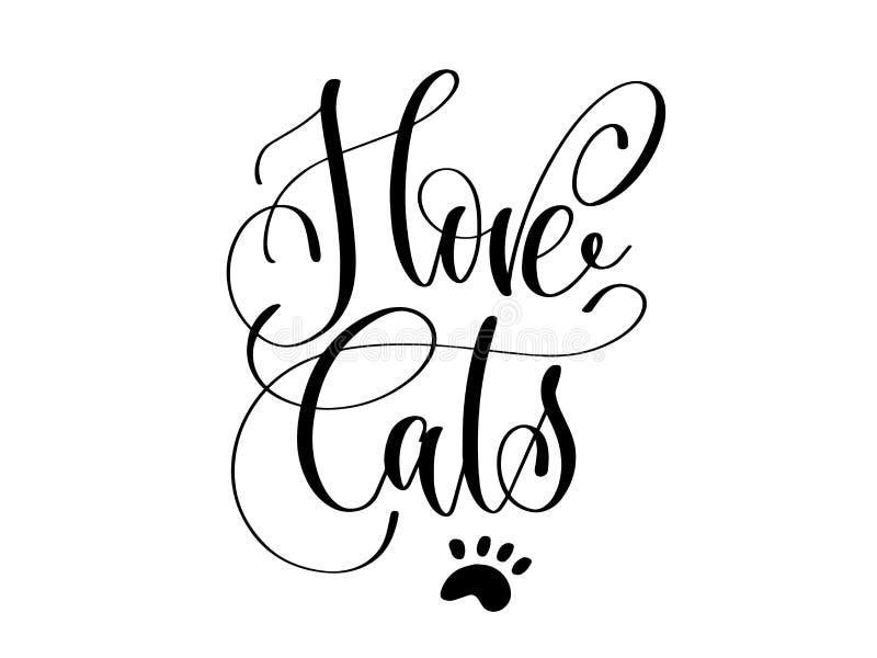 我爱猫-手字法 向量例证