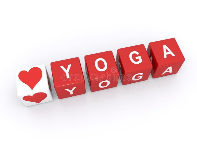 我爱瑜伽 向量例证