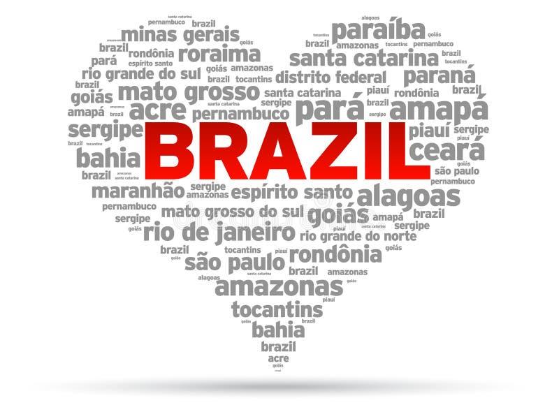 我爱的巴西 库存例证