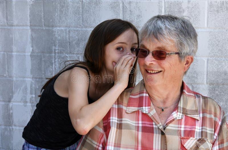 我爱祖母 库存图片