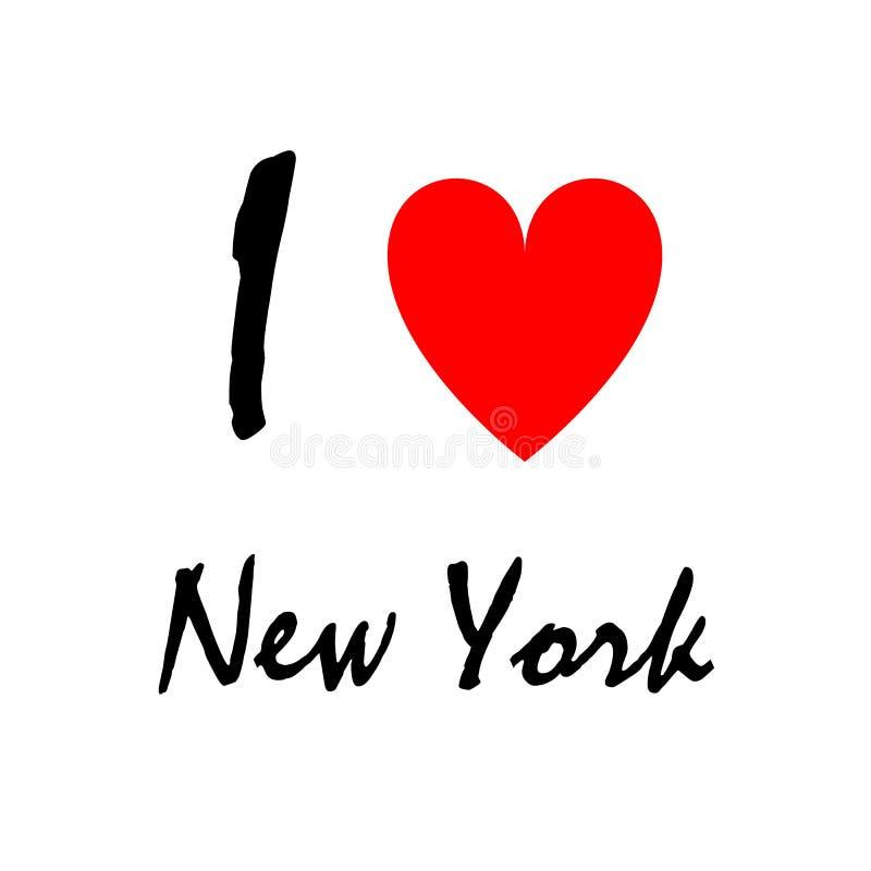 我爱纽约,商标 装饰背景可以为墙纸使用,打印图片 皇族释放例证