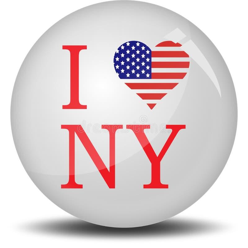 我爱纽约 库存例证