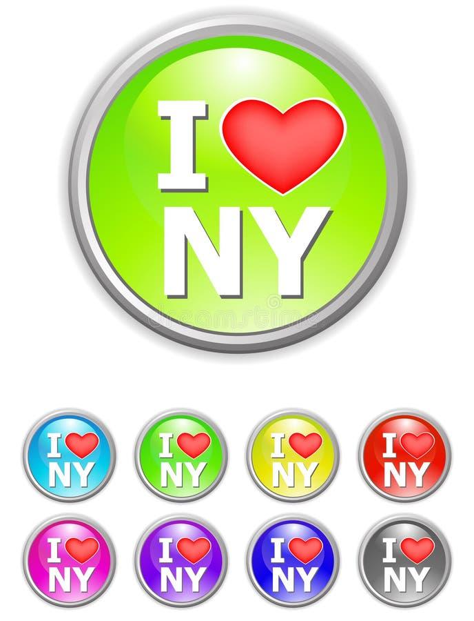 我爱纽约 向量例证