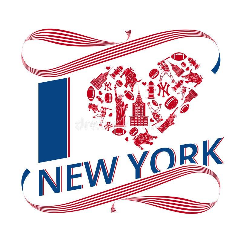 我爱纽约 皇族释放例证