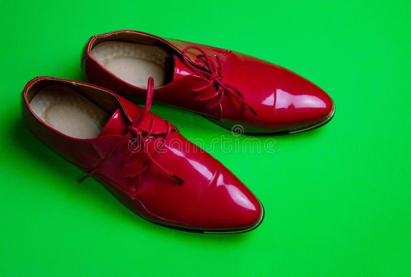 我爱装饰的红色鞋子 库存照片