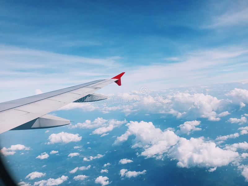 我爱这片刻第一班飞行 免版税库存图片