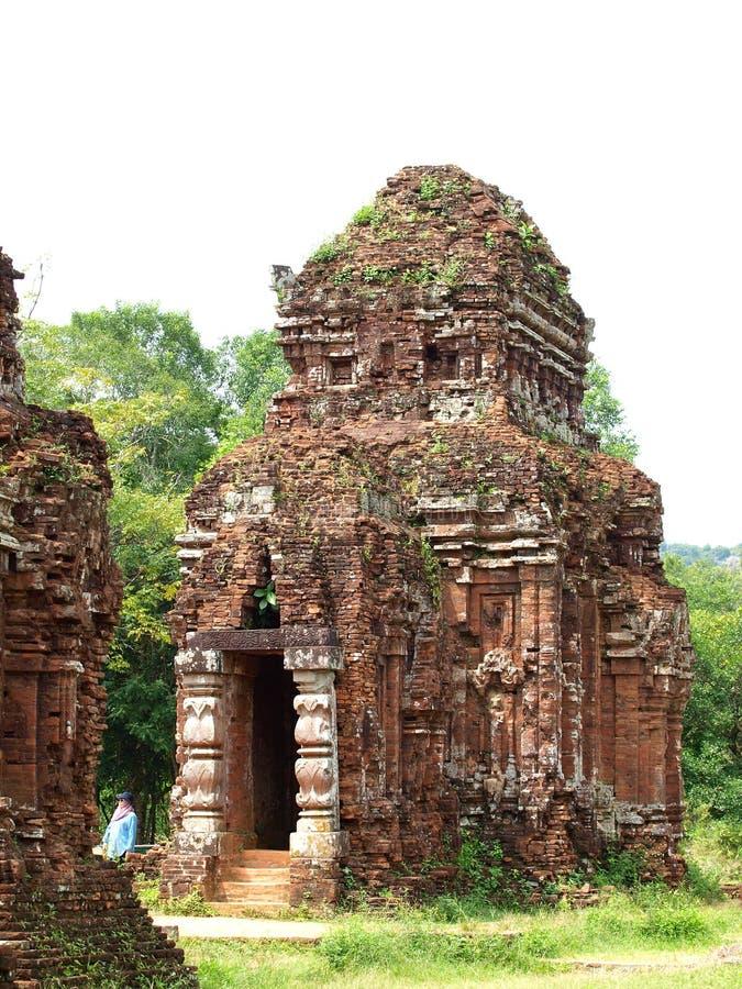 我的儿子古老印度教和佛教宗教仪式大厦 免版税库存照片