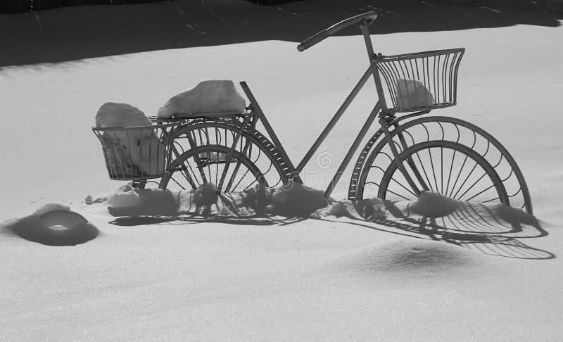 我的冬天自行车 图库摄影