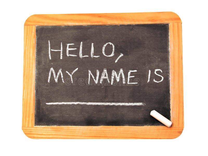 我的名字 库存照片