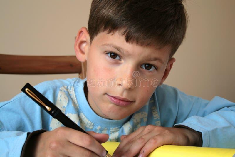 我的学校家庭作业 免版税库存图片