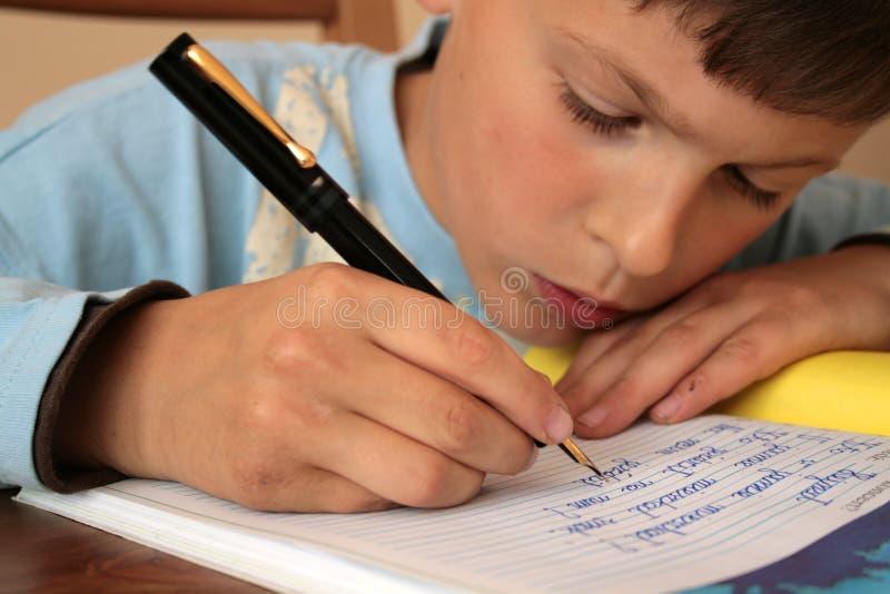 我的学校家庭作业 免版税图库摄影