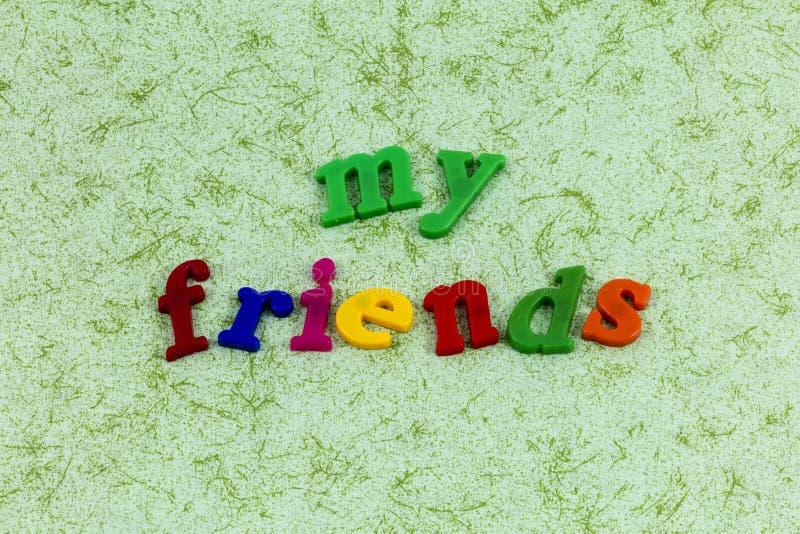我的朋友友谊爱享用朋友bff专辑 库存图片