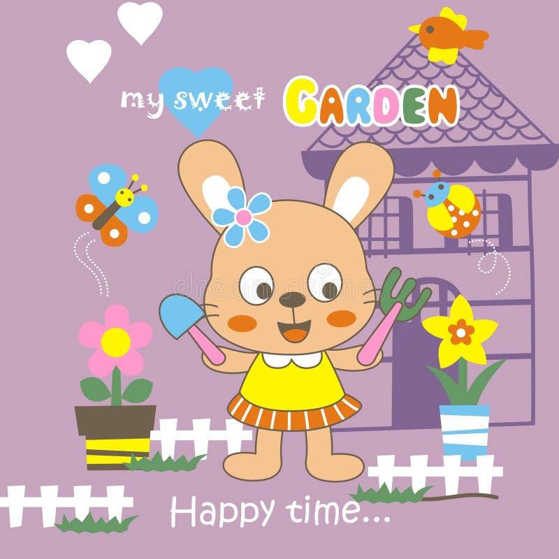 我的甜庭院 向量例证
