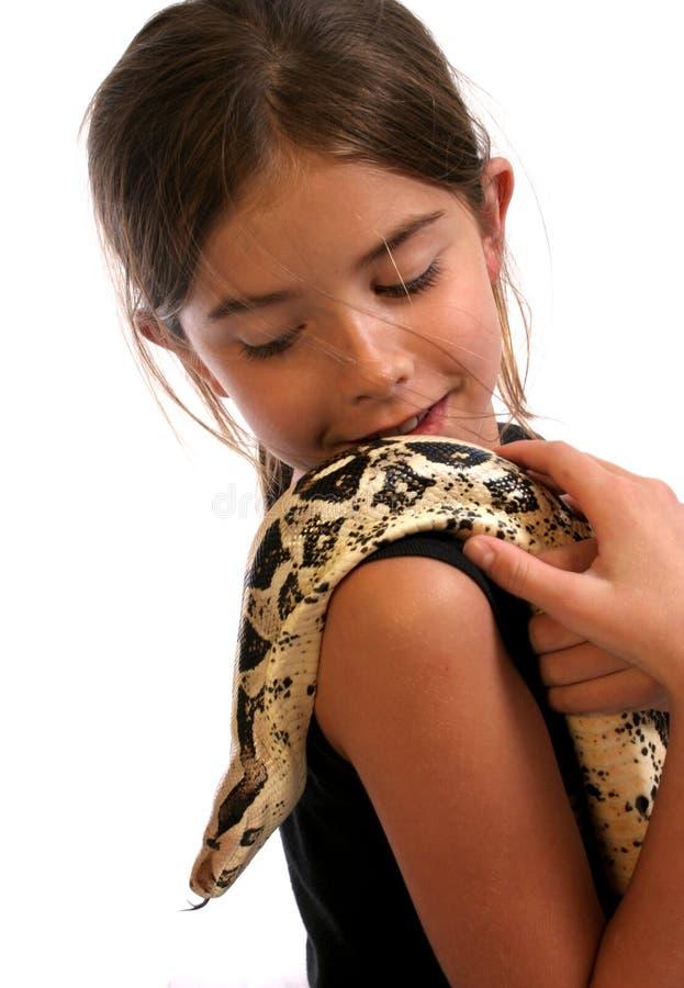 我的肩膀蛇 免版税库存照片