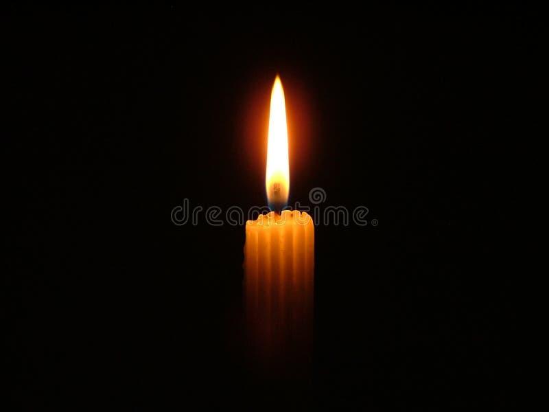 我的蜡烛光 免版税库存图片