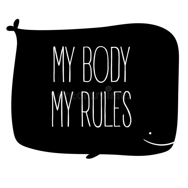 我的身体我的规则 援权和妇女权利 向量例证