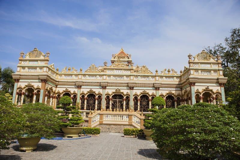 我的Tho市的,越南著名荣市Trang塔 免版税库存照片