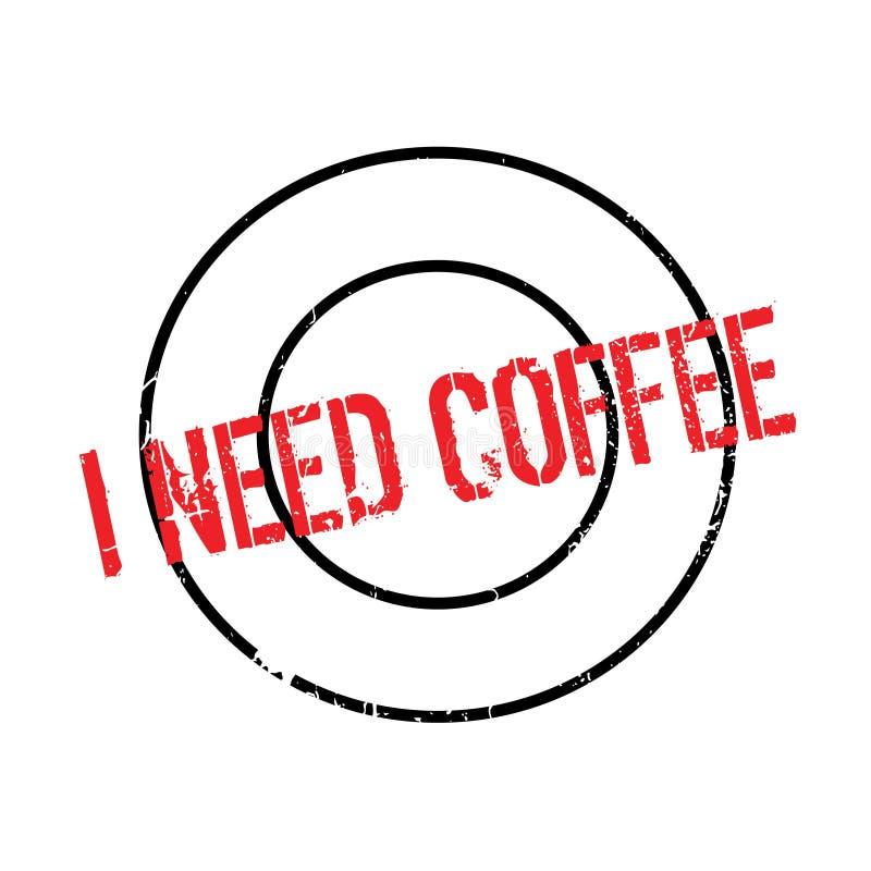我需要咖啡不加考虑表赞同的人 向量例证