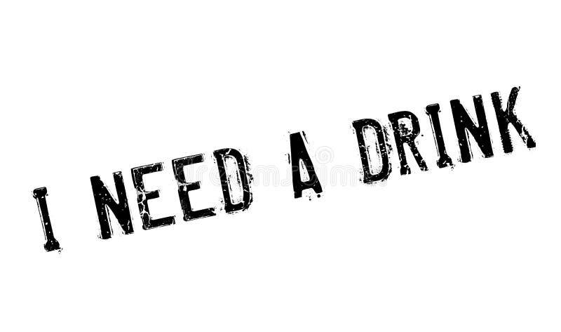 我需要饮料不加考虑表赞同的人 库存例证