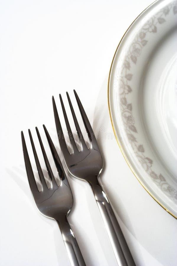 我餐位餐具 免版税图库摄影