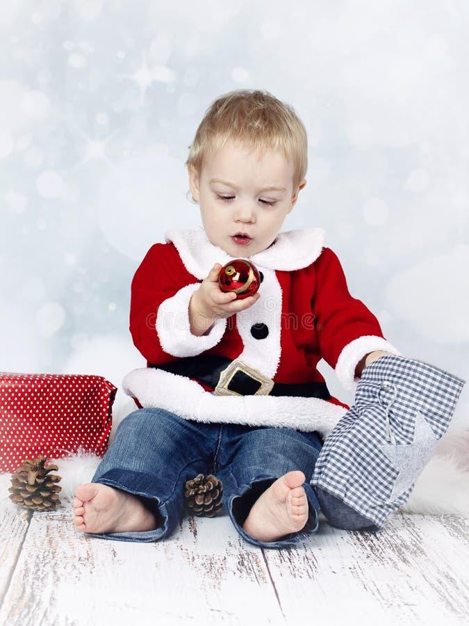 我首先的圣诞节 免版税库存图片