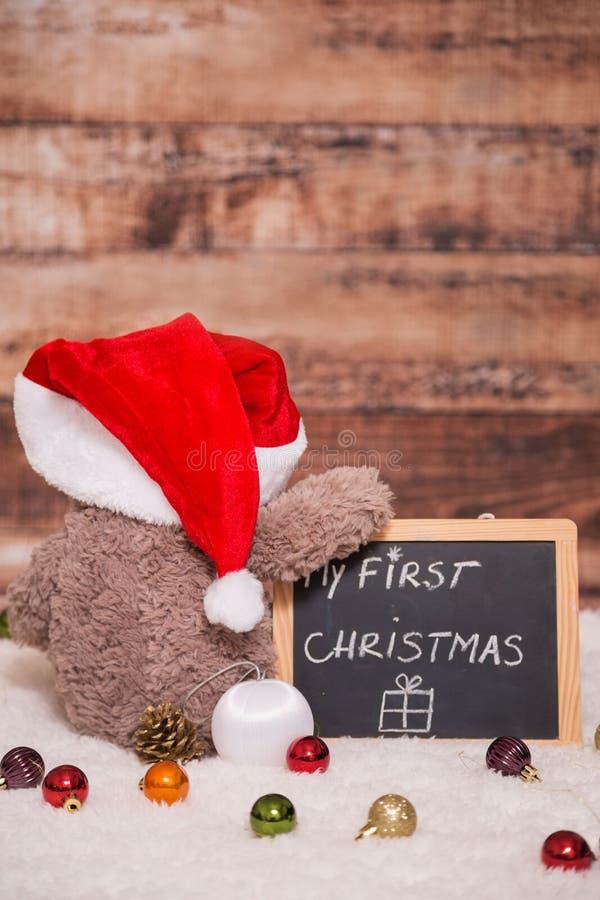 我首先的圣诞节 库存照片