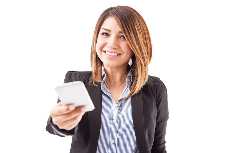 我们卖您需要的智能手机 免版税库存照片
