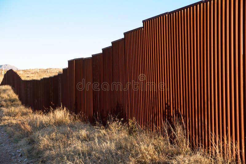 我们墨西哥边界, Sasabe, AZ 免版税库存照片