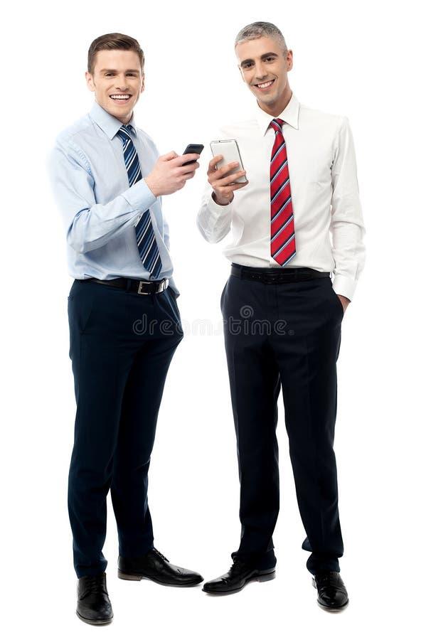 我们得到了一个新的巧妙的电话 免版税库存图片