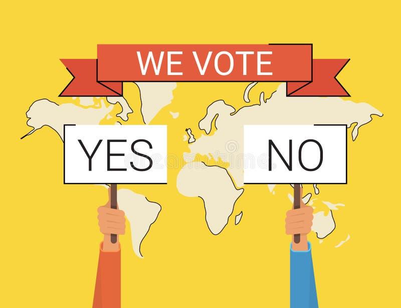 我们投票 皇族释放例证
