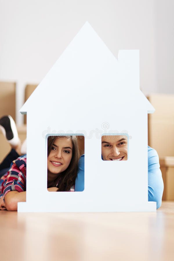 我们新的家! 免版税库存图片