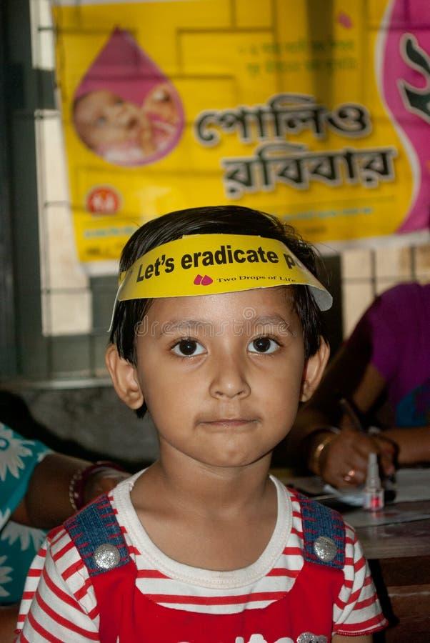 我们根除小儿麻痹症 免版税图库摄影