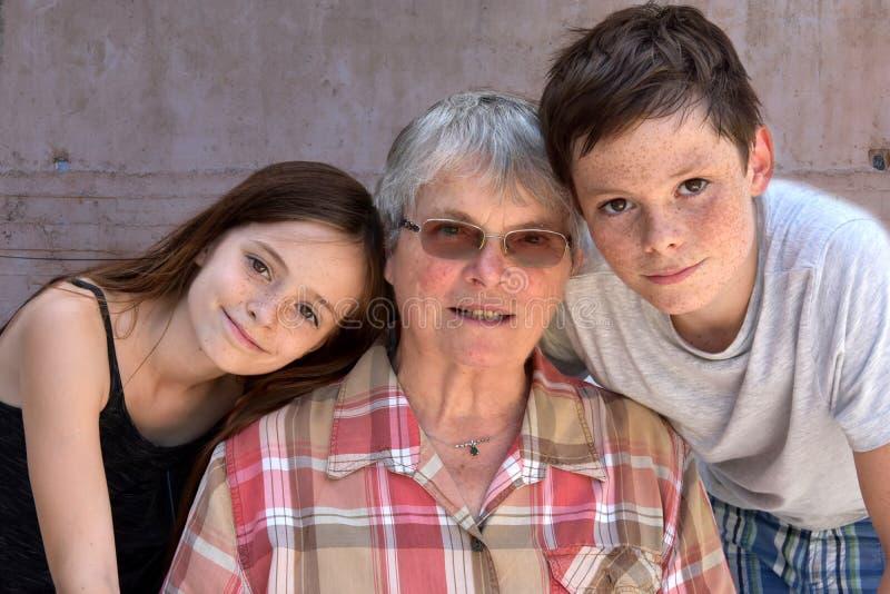 我们爱祖母 免版税库存照片