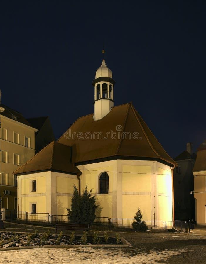 我们的哀痛的夫人教会在Walbrzych 波兰 库存照片